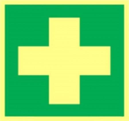 Godkjente førstehjelp skilt